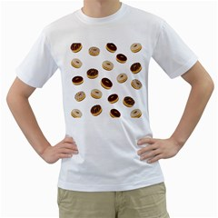 Donuts Pattern Men s T-shirt (white)  by Valentinaart