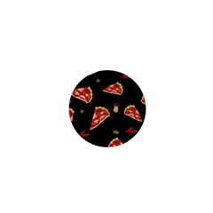 Pizza Slice Patter 1  Mini Buttons by Valentinaart