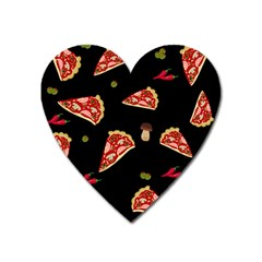 Pizza Slice Patter Heart Magnet by Valentinaart