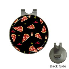 Pizza Slice Patter Hat Clips With Golf Markers by Valentinaart