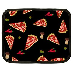 Pizza Slice Patter Netbook Case (large) by Valentinaart