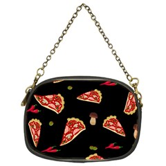 Pizza Slice Patter Chain Purses (one Side)  by Valentinaart