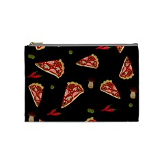 Pizza Slice Patter Cosmetic Bag (medium)  by Valentinaart