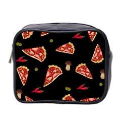 Pizza Slice Patter Mini Toiletries Bag 2 Side by Valentinaart