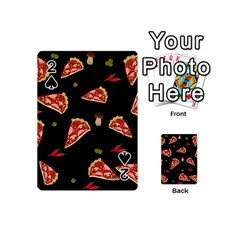 Pizza Slice Patter Playing Cards 54 (mini)  by Valentinaart