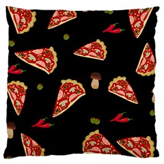 Pizza Slice Patter Large Cushion Case (two Sides) by Valentinaart