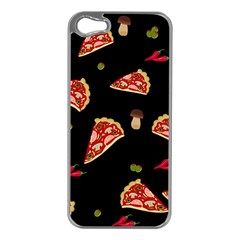 Pizza Slice Patter Apple Iphone 5 Case (silver) by Valentinaart