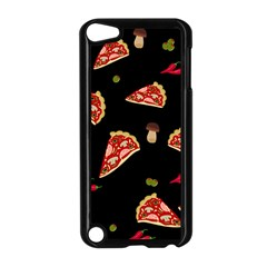 Pizza Slice Patter Apple Ipod Touch 5 Case (black) by Valentinaart