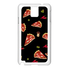 Pizza Slice Patter Samsung Galaxy Note 3 N9005 Case (white) by Valentinaart