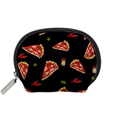 Pizza Slice Patter Accessory Pouches (small)  by Valentinaart