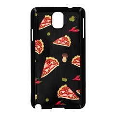 Pizza Slice Patter Samsung Galaxy Note 3 Neo Hardshell Case (black) by Valentinaart