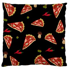 Pizza Slice Patter Large Flano Cushion Case (one Side) by Valentinaart
