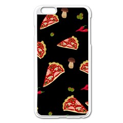 Pizza Slice Patter Apple Iphone 6 Plus/6s Plus Enamel White Case by Valentinaart