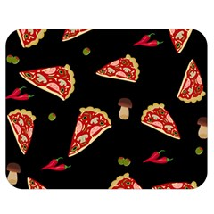 Pizza Slice Patter Double Sided Flano Blanket (medium)