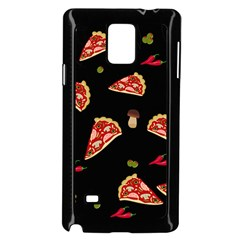 Pizza Slice Patter Samsung Galaxy Note 4 Case (black) by Valentinaart