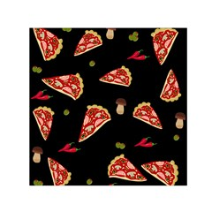 Pizza Slice Patter Small Satin Scarf (square) by Valentinaart