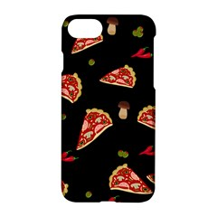 Pizza Slice Patter Apple Iphone 7 Hardshell Case by Valentinaart