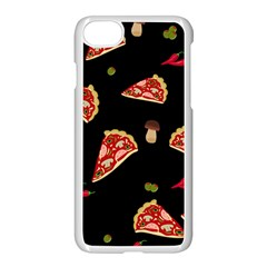 Pizza Slice Patter Apple Iphone 7 Seamless Case (white) by Valentinaart