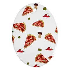 Pizza Pattern Ornament (oval) by Valentinaart