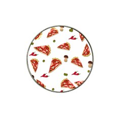Pizza Pattern Hat Clip Ball Marker by Valentinaart