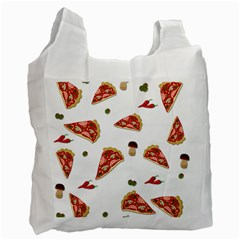 Pizza Pattern Recycle Bag (two Side)
