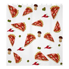Pizza Pattern Shower Curtain 66  X 72  (large)  by Valentinaart