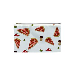 Pizza Pattern Cosmetic Bag (small)  by Valentinaart