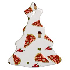 Pizza Pattern Ornament (christmas Tree)  by Valentinaart