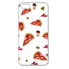 Pizza Pattern Apple Seamless Iphone 5 Case (clear) by Valentinaart