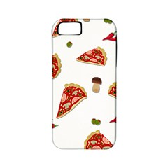 Pizza Pattern Apple Iphone 5 Classic Hardshell Case (pc+silicone) by Valentinaart