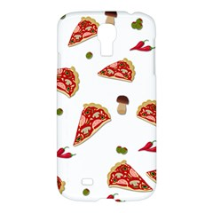 Pizza Pattern Samsung Galaxy S4 I9500/i9505 Hardshell Case by Valentinaart