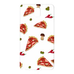 Pizza Pattern Samsung Galaxy Note 3 N9005 Hardshell Back Case by Valentinaart