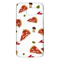 Pizza Pattern Galaxy S6 by Valentinaart