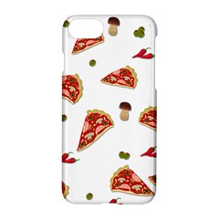 Pizza Pattern Apple Iphone 7 Hardshell Case by Valentinaart