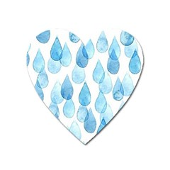 Rain Drops Heart Magnet by Brittlevirginclothing