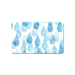 Rain Drops Magnet (name Card) by Brittlevirginclothing