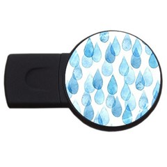 Rain Drops Usb Flash Drive Round (2 Gb) by Brittlevirginclothing