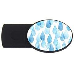 Rain Drops Usb Flash Drive Oval (2 Gb) by Brittlevirginclothing