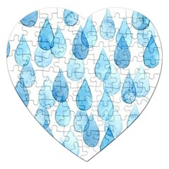 Rain Drops Jigsaw Puzzle (heart) by Brittlevirginclothing