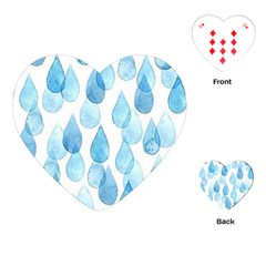Rain Drops Playing Cards (heart)  by Brittlevirginclothing