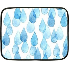 Rain Drops Fleece Blanket (mini) by Brittlevirginclothing