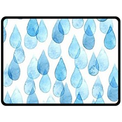 Rain Drops Fleece Blanket (large)  by Brittlevirginclothing