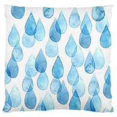 Rain Drops Large Flano Cushion Case (one Side) by Brittlevirginclothing