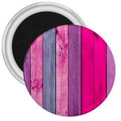 Pink Wood 3  Magnets by Brittlevirginclothing