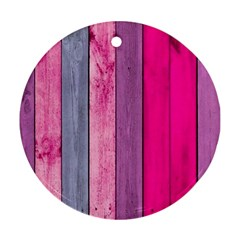 Pink Wood Ornament (round) by Brittlevirginclothing