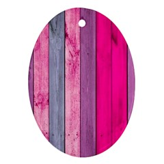 Pink Wood Ornament (oval) by Brittlevirginclothing