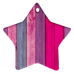 Pink Wood Ornament (star) by Brittlevirginclothing