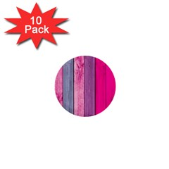 Pink Wood 1  Mini Buttons (10 Pack)  by Brittlevirginclothing