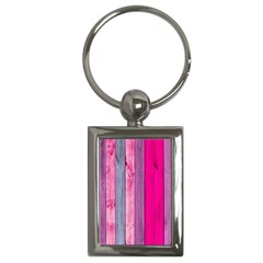Pink Wood Key Chains (rectangle)  by Brittlevirginclothing