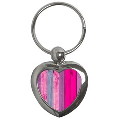 Pink Wood Key Chains (heart)  by Brittlevirginclothing